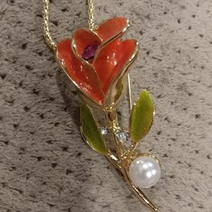 New flower necklace brooch
